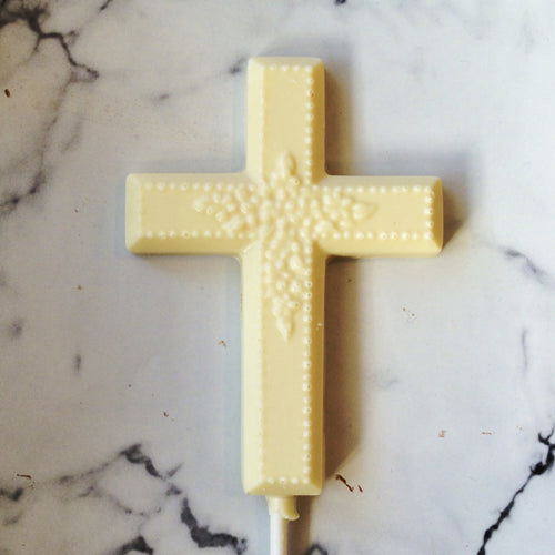 Cross lollipop for Easter or First Communion
