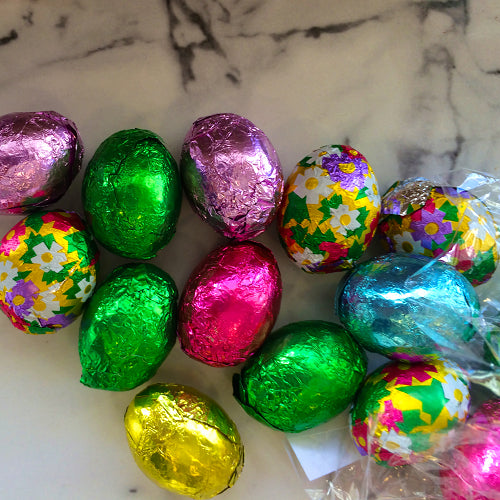 Foil Wrapped Milk Chocolate Eggs and more