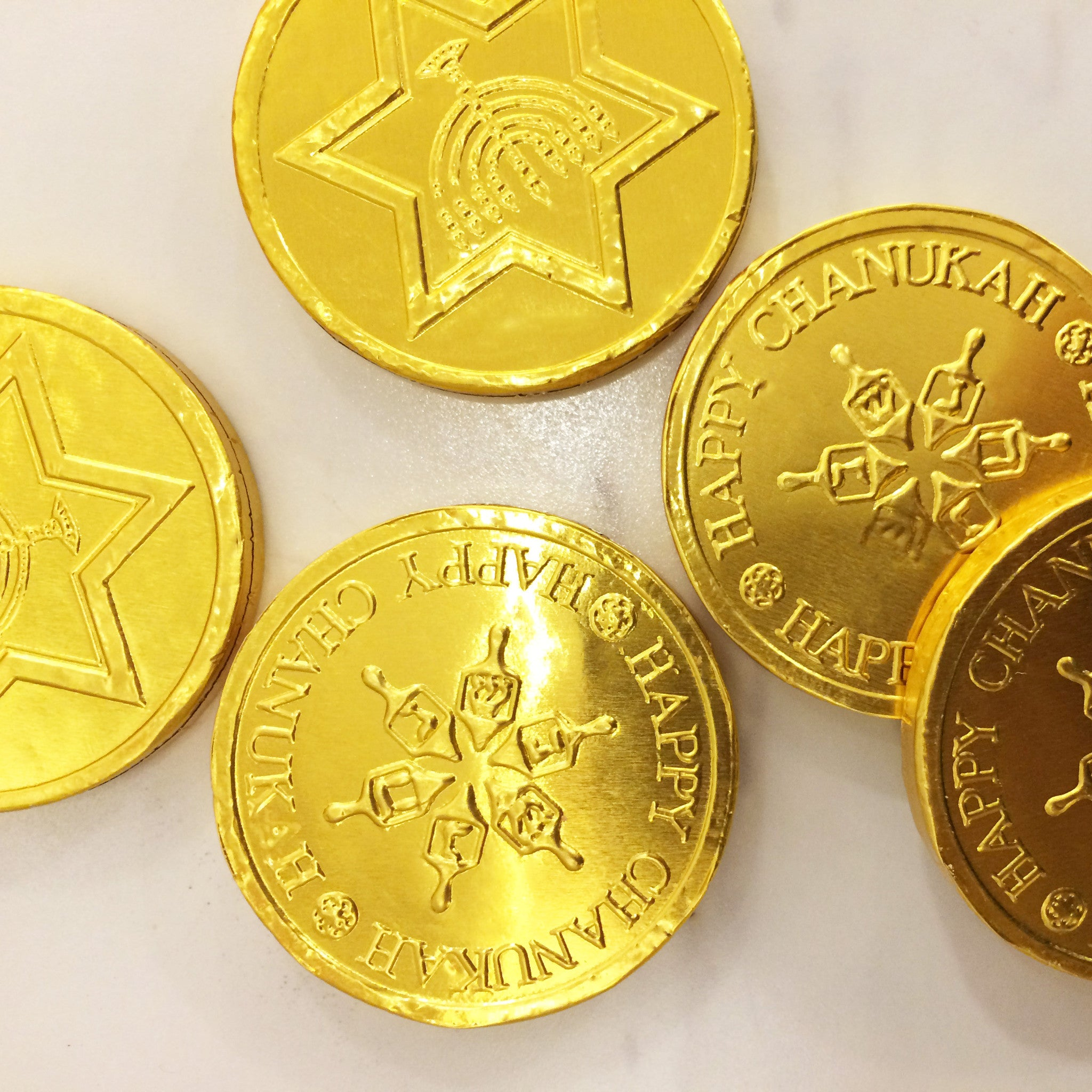 Gold Coins for Hanukkah - The Chocolate Delicacy