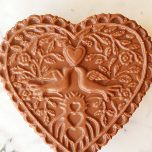chocolate heart wedding favor