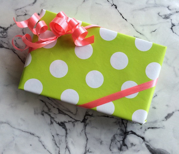 Pretty, seasonal gift wrap always available-free