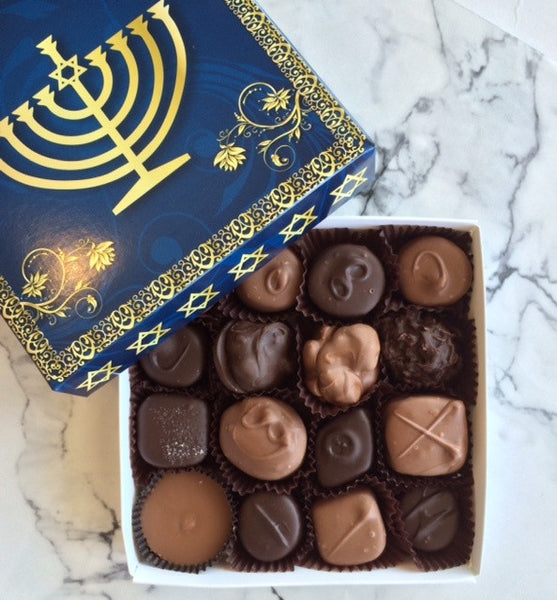 Hanukkah Box with assorted chocolates