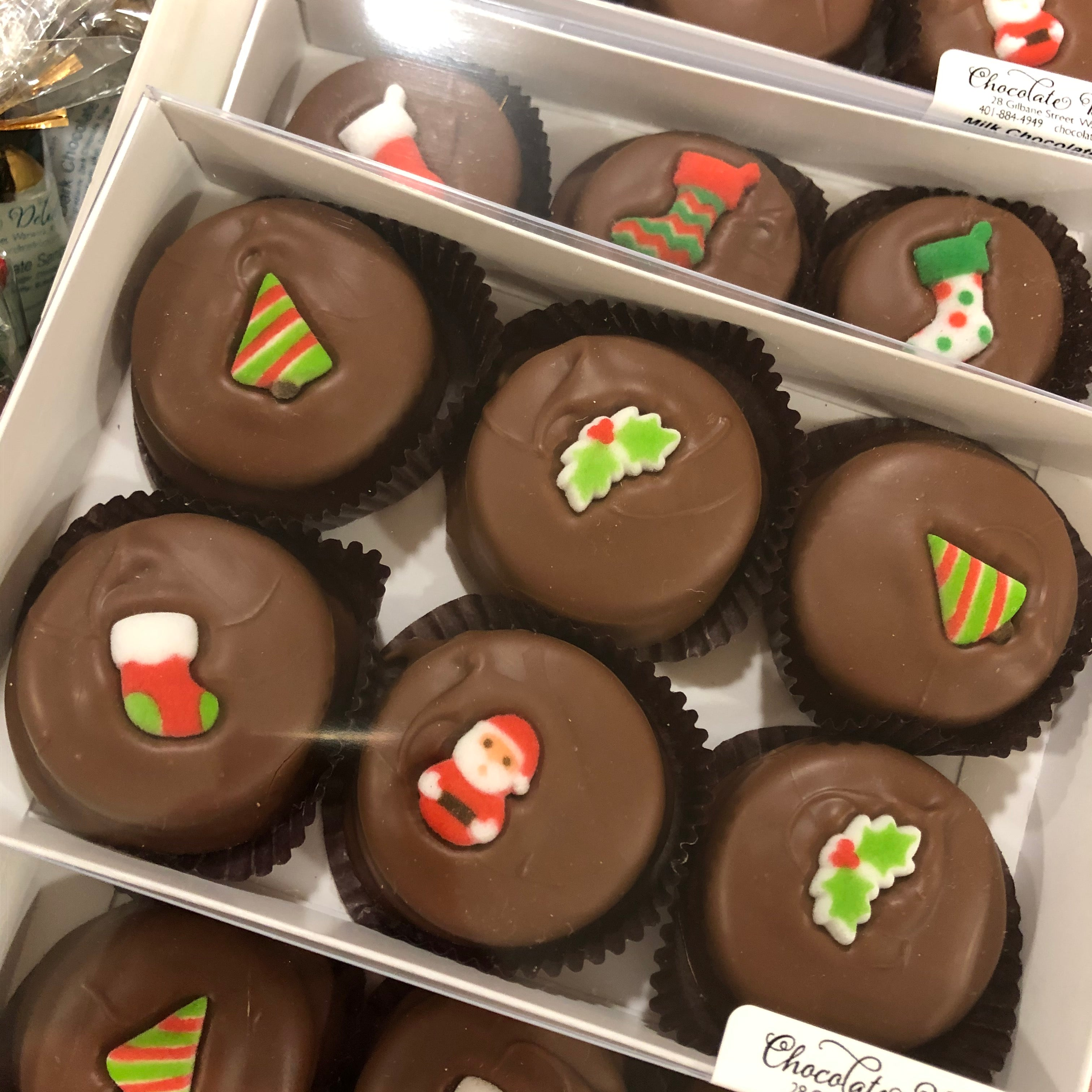 Chocolate Covered Oreo Christmas