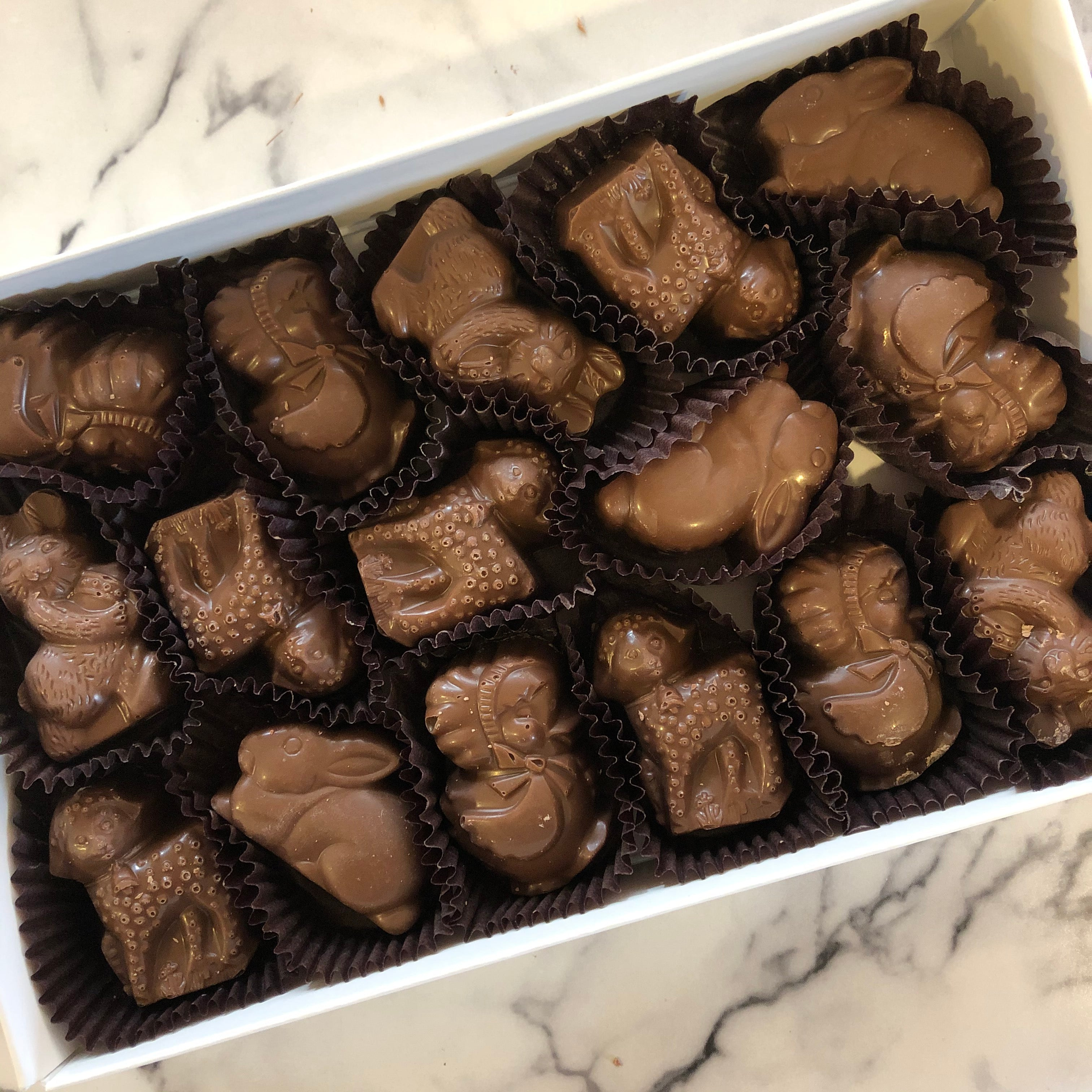 Peanut butter Easter chocolates