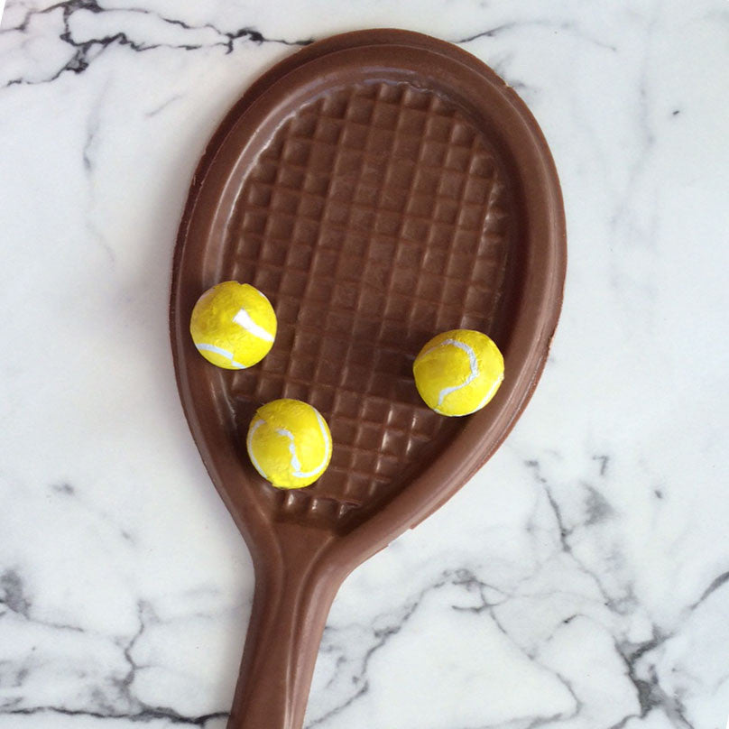 chocolate tennis racquet