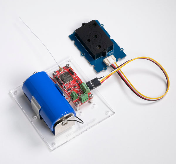Picture of MCCI Eval Kit for LoRaWAN-connected SCD30 CO2 sensor