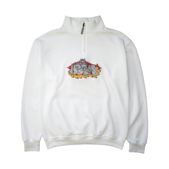 BREAKTHROUGH 1/4 ZIP (WHITE)
