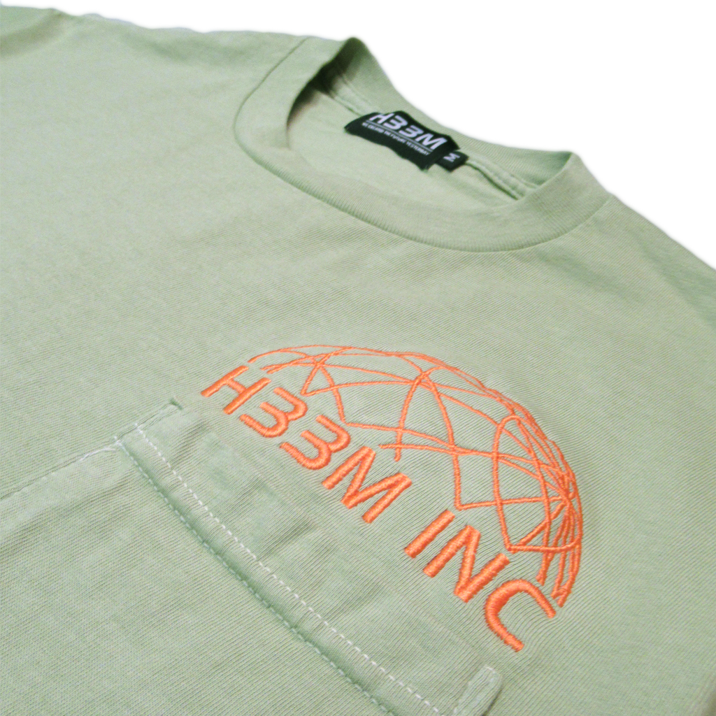 CLASSIC LOGO POCKET TEE (AVACADO CREAM)
