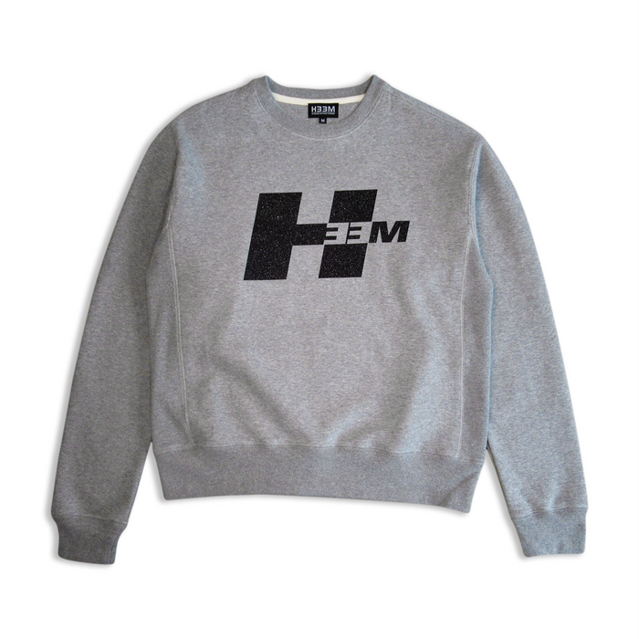 """GRIP TAPE"" LOGO CREWNECK (HEATHER GREY)"