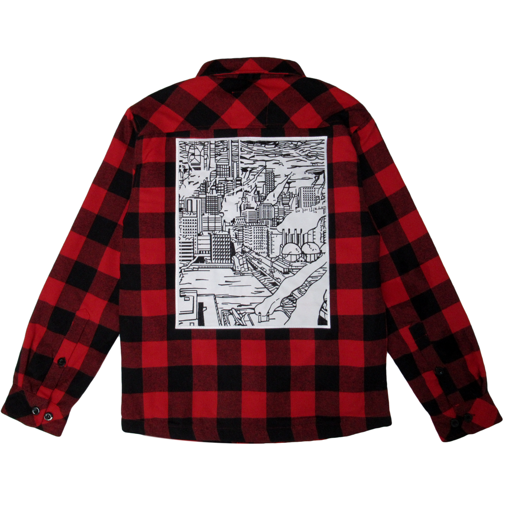 METROPOLIS HOODED FLANNEL (RED)