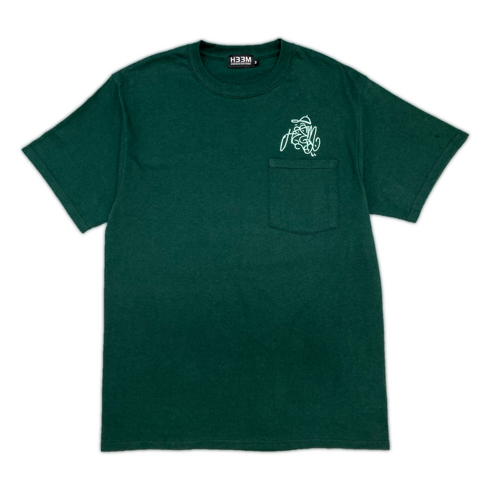 OZONE LOGO POCKET TEE (DARK GREEN)