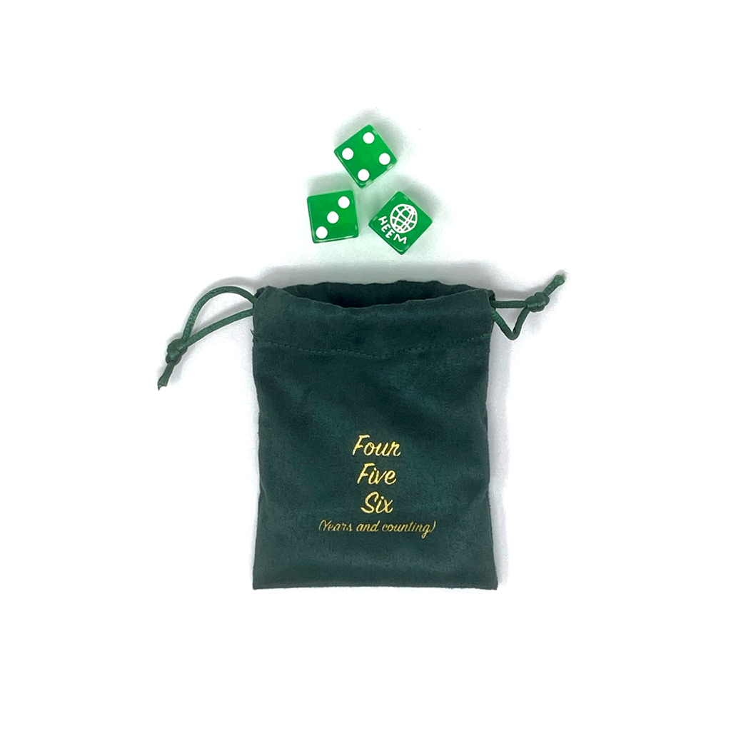 6 YEAR ANNIVERSARY DICE SET