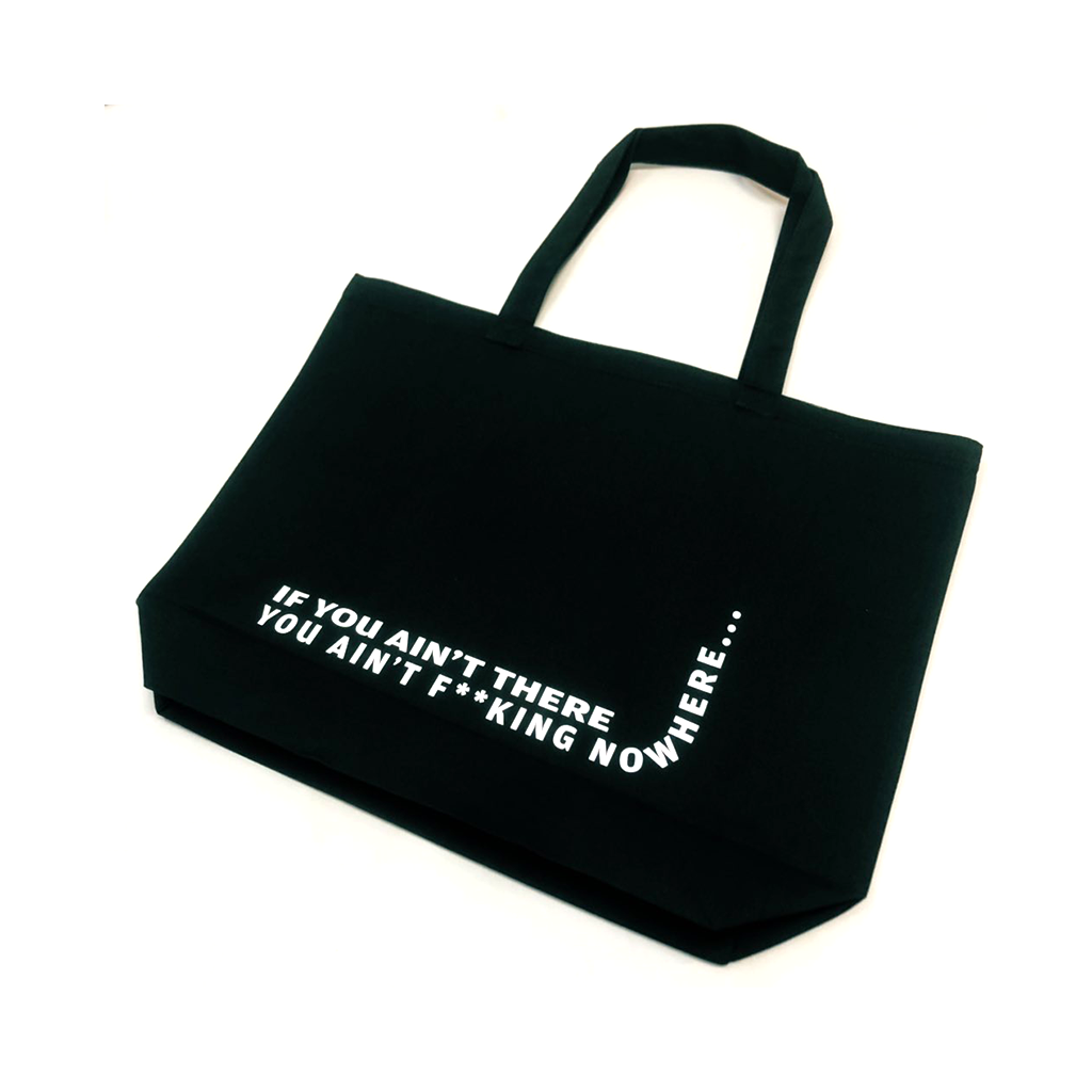 OPTICAL ILLUSION TOTE (BLACK)