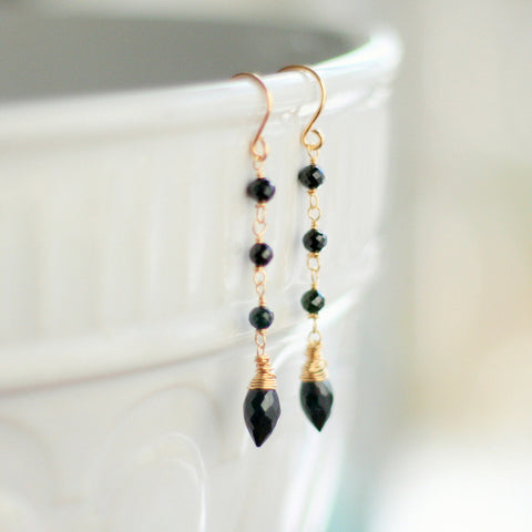 """Carmen"" Black Spinel Earrings"