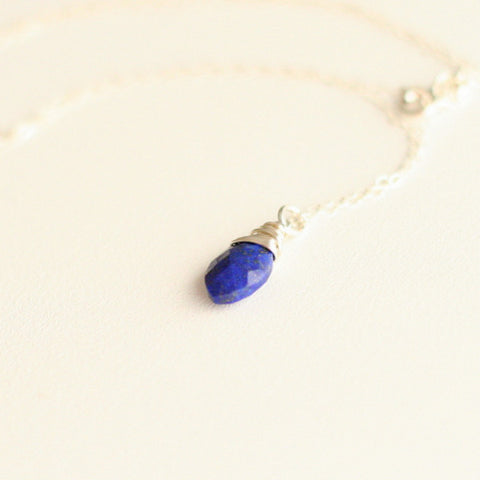 """Andrea"" Lapis Necklace"