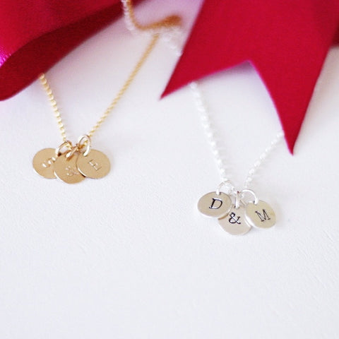 """Initial"" Letter Tags Necklace"