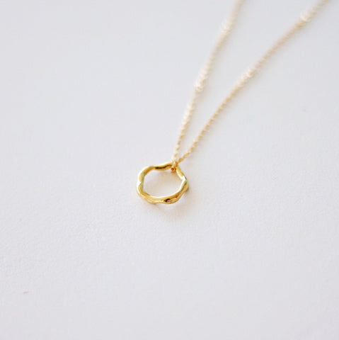"""Imperfect"" Circle Necklace"