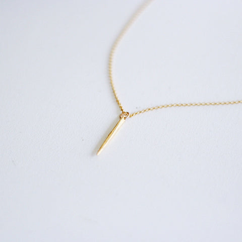 """Ariel"" Gold Spike Necklace"