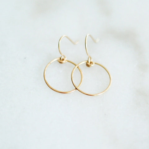 """Chalice"" Hoop Earrings"