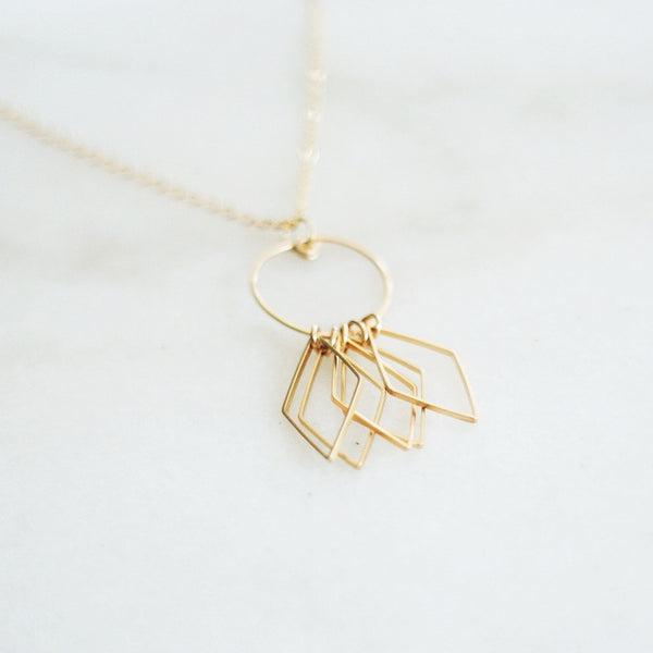 """Soleil"" Necklace - Long Gold Necklace"