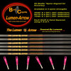 100% Carbon -Lumenok Equipped Lumen-Arrows  6 Pack - Unfletched