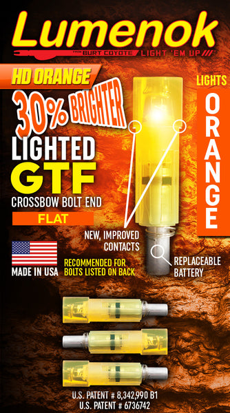 "GTF Gold Tip Carbon Flat - For Carbon Bolts .300"" on the ID"