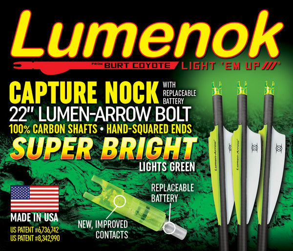 "100% Carbon Lumen-Arrow Bolts - 22"" Capture- 3 Pack"