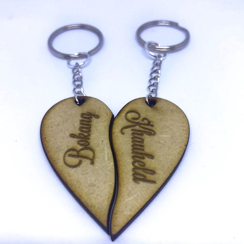 Custom Heart Keyrings