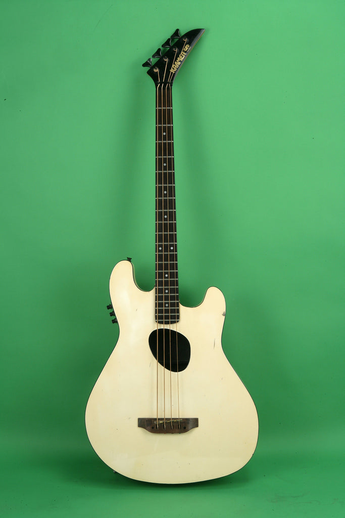 1985 Kramer Ferrington Acoustic Electric Bass White