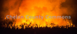 First Creek Fire Night , JPG Image Download - Travis Knoop, Chelan County Commons