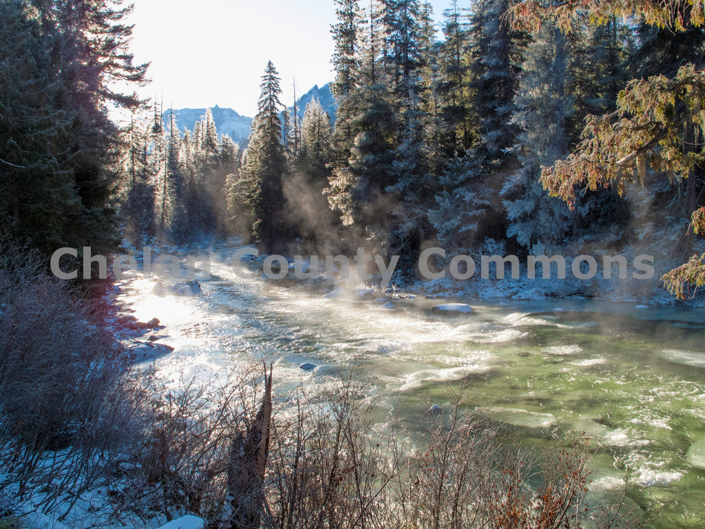 Icicle Creek Winter Morning , JPG Image Download - Stephen Hufman, Chelan County Commons