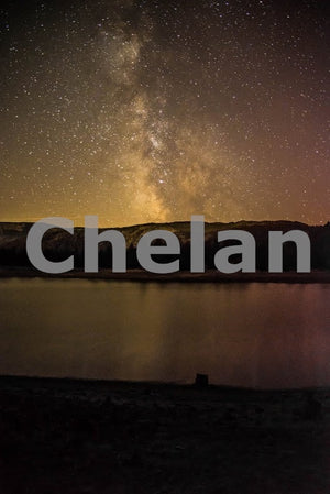 Beehive Lake and the Milky Way , JPG Image Download - Brian Mitchell, Chelan County Commons