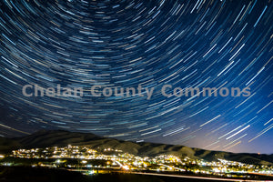 Burch Mountain Star Trails , JPG Image Download - Josh Cadd, Chelan County Commons