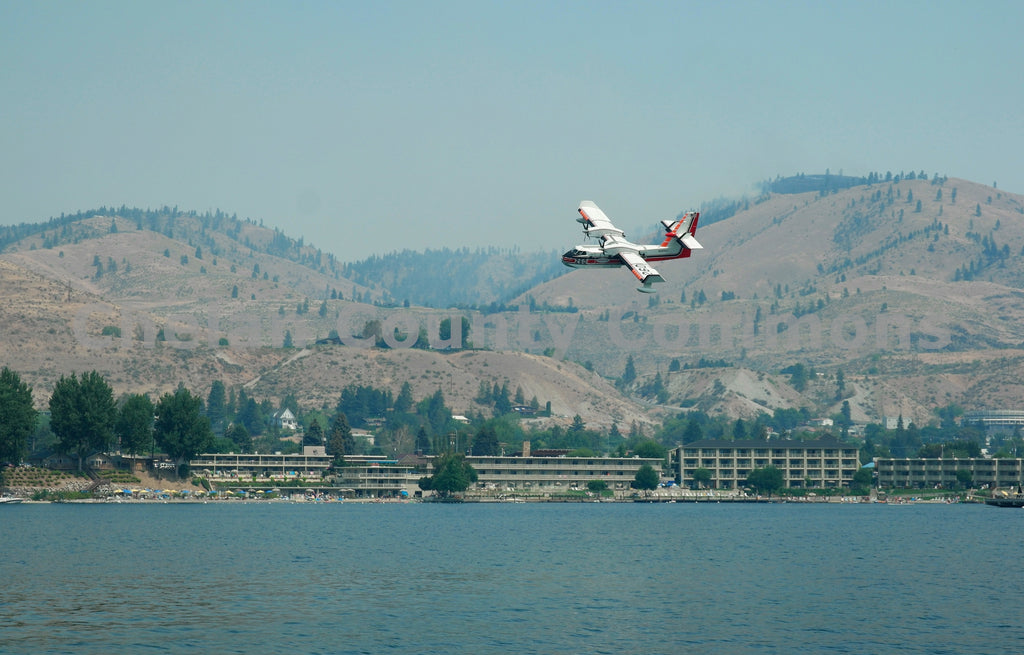Fire Plane over Campbells Resort Enroute , JPG Image Download - Jared Eygabroad, Chelan County Commons
