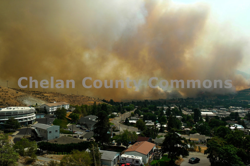 Forest Fire Close to Chelan , JPG Image Download - Jared Eygabroad, Chelan County Commons