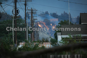 Lake Chelan Fire in Town , JPG Image Download - Jared Eygabroad, Chelan County Commons