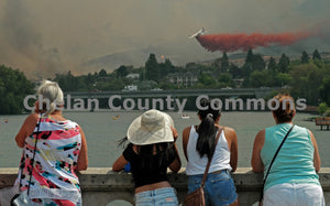 Onlookers Watch Fire Retardant Drop , JPG Image Download - Jared Eygabroad, Chelan County Commons