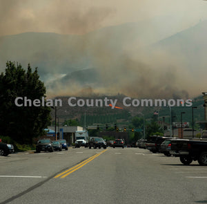 Chelan Forest Fire Above Town , JPG Image Download - Jared Eygabroad, Chelan County Commons