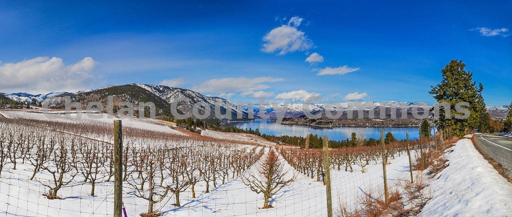 Chelan Snow Panorama , JPG Image Download - Brian Mitchell, Chelan County Commons