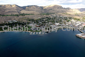 Aerial View City of Chelan , JPG Image Download - Richard Uhlhorn, Chelan County Commons