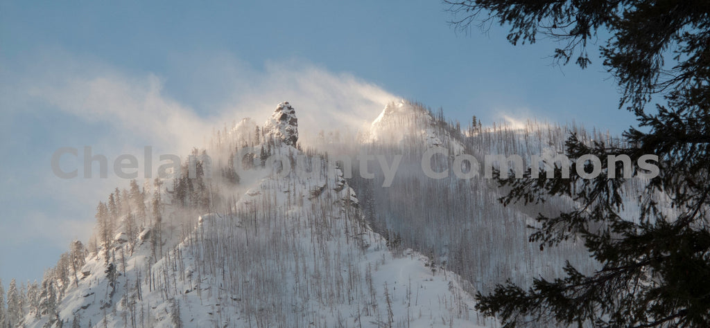 Icicle Canyon Wind and Snow , JPG Image Download - Stephen Hufman, Chelan County Commons