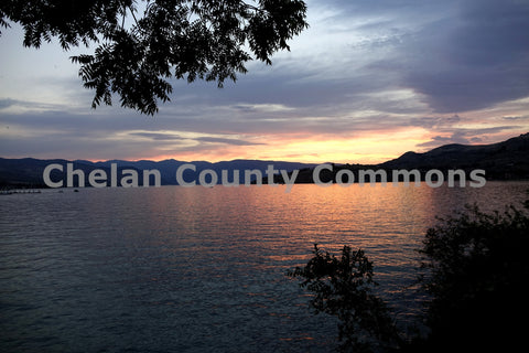 Lake Chelan Orange Sunset