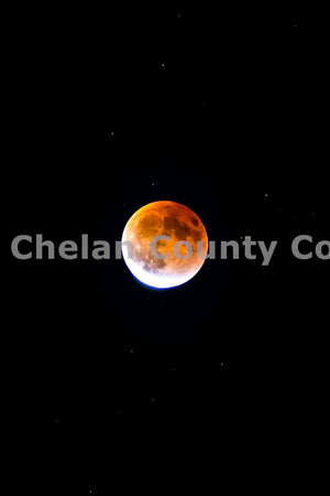 Dark Night Supermoon Eclipse , JPG Image Download - Brian Mitchell, Chelan County Commons