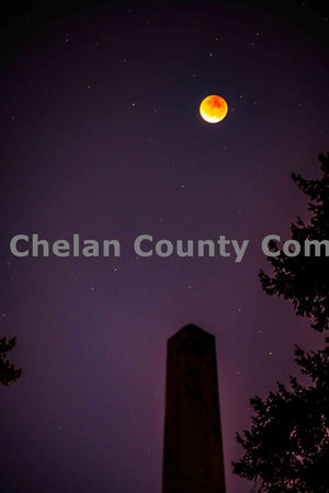 Tower Supermoon Eclipse , JPG Image Download - Brian Mitchell, Chelan County Commons