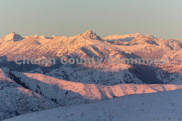 Enchantments Pink Sunrise , JPG Image Download - Travis Knoop, Chelan County Commons