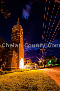 Wenatchee Community Center at Night , JPG Image Download - Brian Mitchell, Chelan County Commons