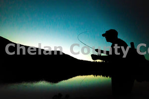 Night Fly Fishing at Beehive Reservoir , JPG Image Download - Brian Mitchell, Chelan County Commons