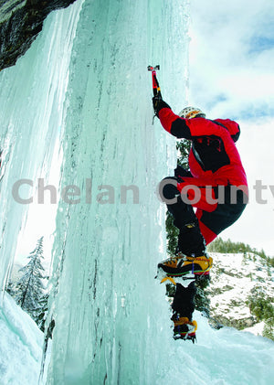 Climbing an Ice Chandelier , JPG Image Download - Heidi Swoboda, Chelan County Commons