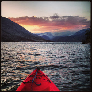 Sunset Kayaking On Lake Chelan , JPG Image Download - Travis Knoop, Chelan County Commons
