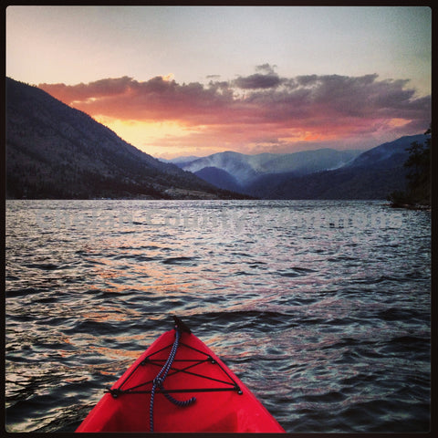 Sunset Kayaking On Lake Chelan